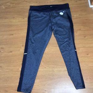Danskin Navy Blue Size XL 16-18 workout pants NEW!